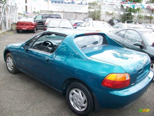 1995 Paradise Blue Green Pearl Honda Del Sol S  18106745 Photo  4