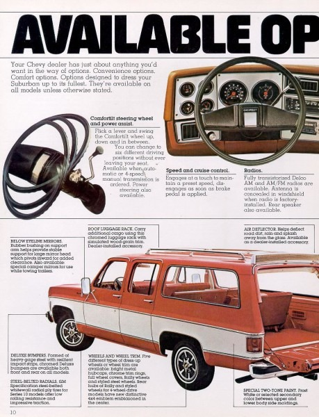 1978 Chevrolet And Gmc Truck Brochures   1978 Chevy Suburban