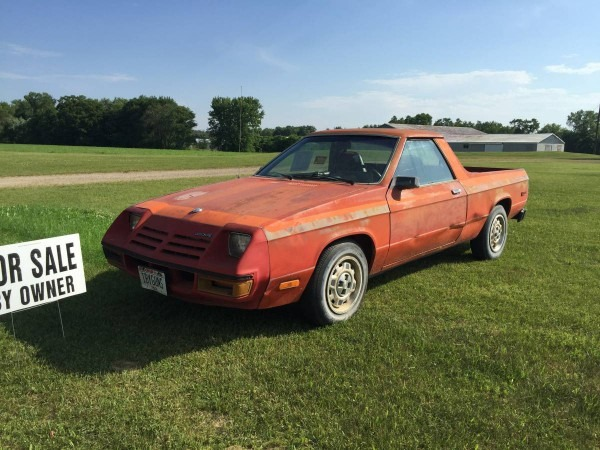 1982 Dodge Rampage Automatic For Sale In Wisconsin Dells