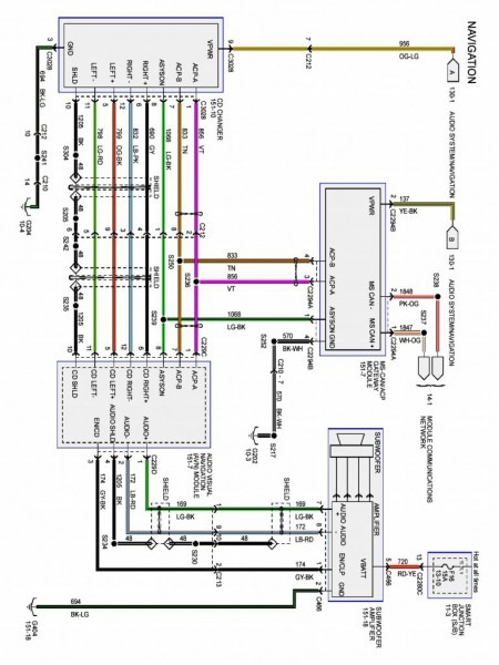 2007 Ford Five Hundred Radio Wiring Diagram