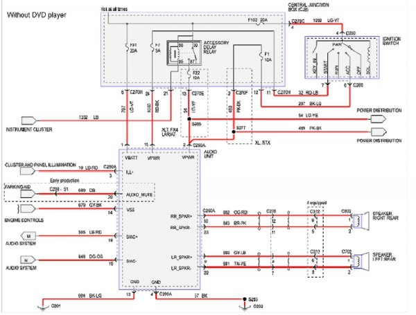 2007 ford 500 stereo wiring diagram  audi 100 fuse box