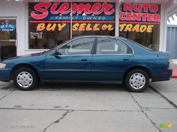 1995 Sherwood Green Pearl Honda Accord Lx Sedan  2724946