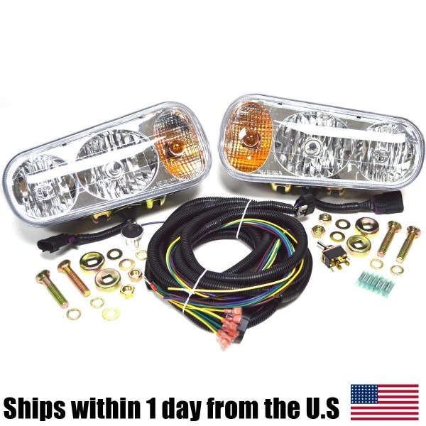 Universal Halogen Snow Plow Lights Kit Fits Boss Western Meyer