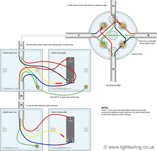 Two Way Lighting Circuit Wiring Diagram