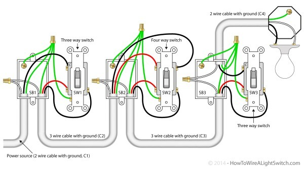 How To Wire A 4 Way Switch With Multiple Lights