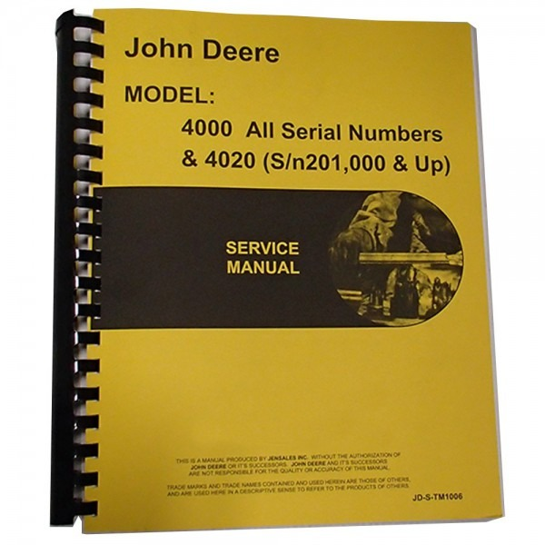New Service Manual For John Deere Tractor 4020  0633632512100