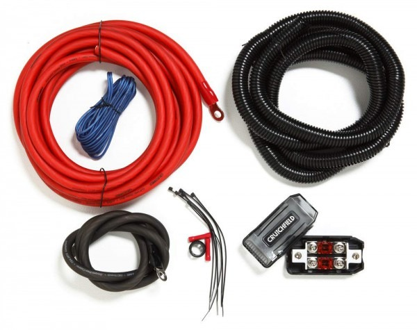 Amazon Com  Crutchfield Amp Wiring Kit 4 Gauge  Car Electronics
