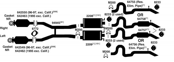 Lincoln Town Car Exhaust Diagram From Best Value Auto Parts