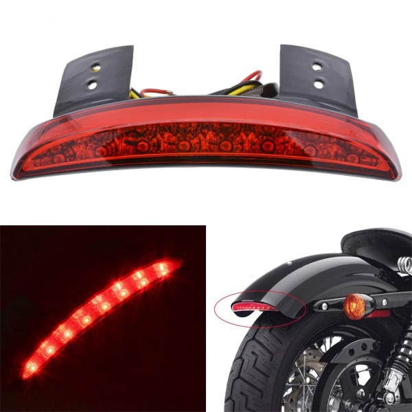 Amazon Com  Katur Motorcycle 8 Led Stop Chopped Fender Edge