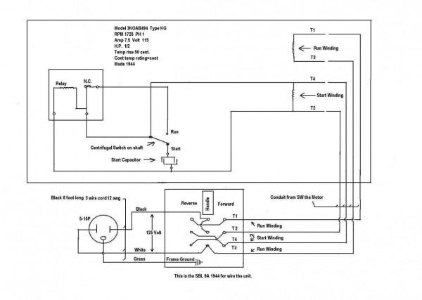 Ge Electric Motor Wiring Diagram