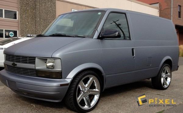 Chevy Astro Van Matte Silver Wrap