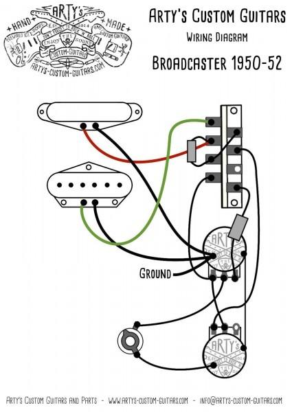 Arty's Custom Guitars Wiring Diagram Plan Telecaster Assembly