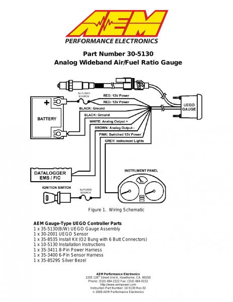 Aem Wideband Instructions