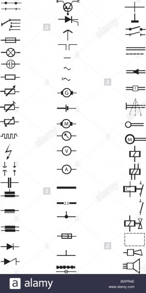 An Extensive List Of Numerous Electrical Signs And Symbols, All In