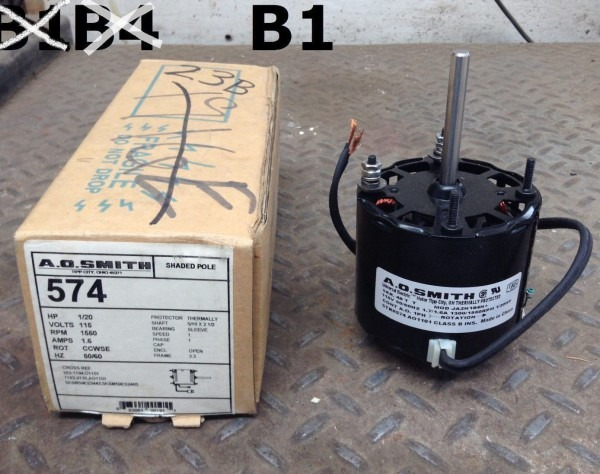 Ao Smith 574 Condenser Fan Motor 1 20hp 1550rpm 115v 5 16×2