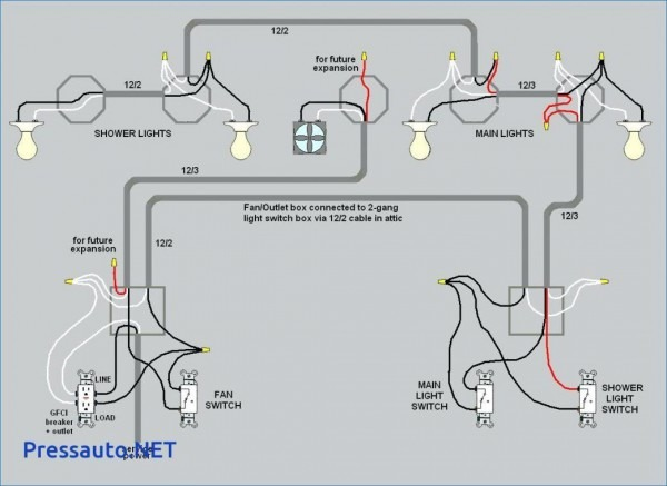 4 way switch wiring multiple lights