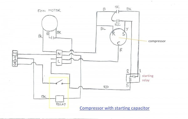 1 Phase Compressor Wiring Diagram