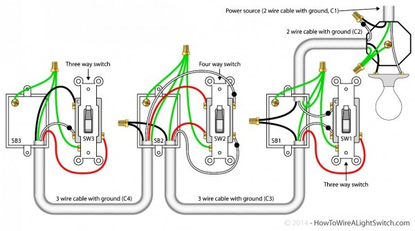 Wiring Diagram Single Pole Switch Multiple Lights Free Download