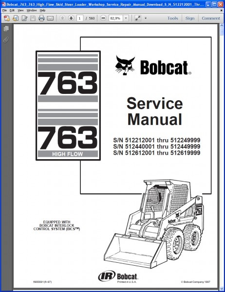 Bobcat Parts Diagram 763