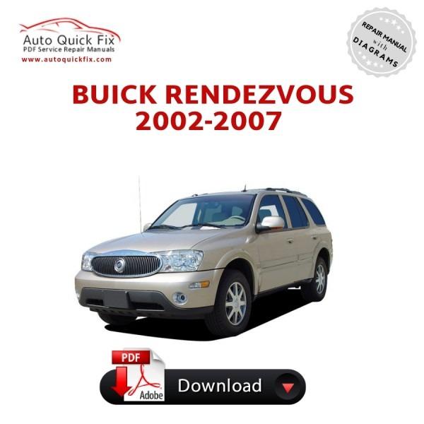 Buick Rendezvous Pdf Service Repair Manual 2002