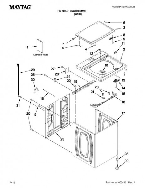Kenmore Elite Front Load Washer Parts Diagram