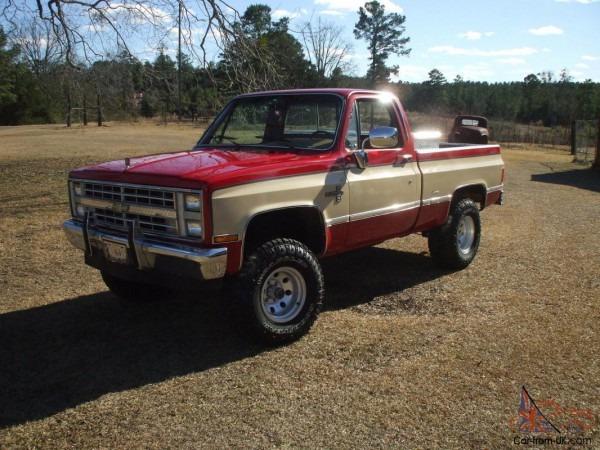 1986 Chevrolet K10 Silverado Scottsdale Vintage Classic Rare 83 84