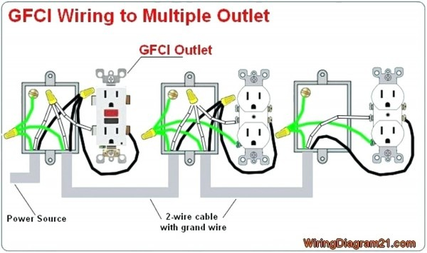 Gfci Wiring Diagram Feed Through Method