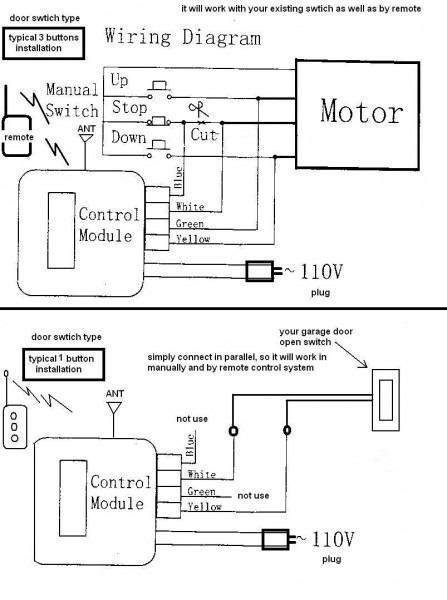 Garage Door Opener Wiring Schematic