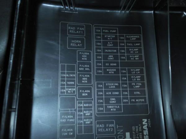 Nissan Altima Fuse Panel Diagram