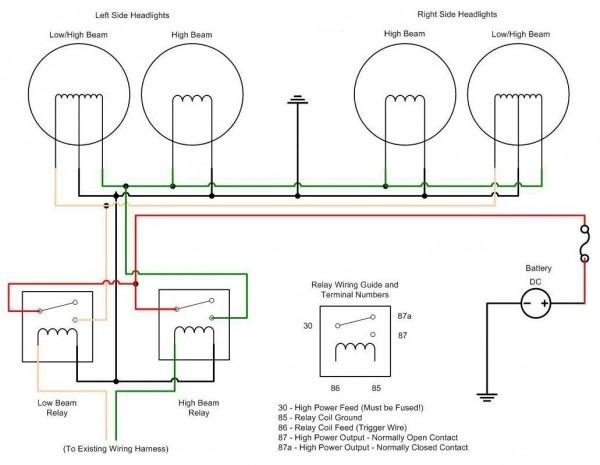 Simple Headlight Wiring Diagram