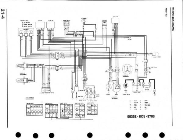 Honda 350 Fourtrax Wiring Diagram