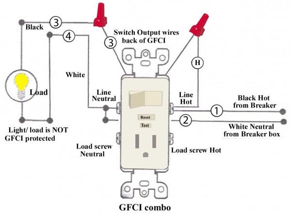Single Gfci Fixture Wiring Diagram