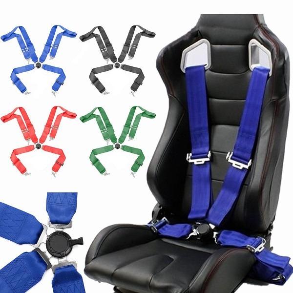 Racing Car Seat Belt 4 Point Cam Lock Race Safety Adjustable Strap
