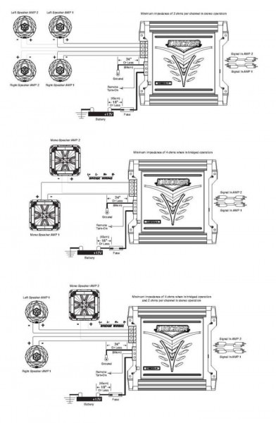 2 Channel Amp Kicker Wiring Diagram