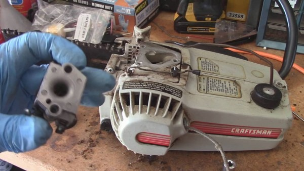 Older Craftsman Chainsaw Carb Clean And Fuel Line 358 355140