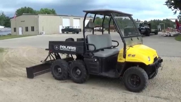 2003 Polaris Ranger 500 6x6 3 Point Hitch And Box Blade