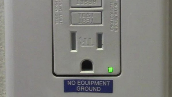 2 Prong Receptacle Replaced With A Gfci Receptacle