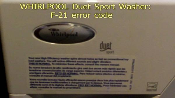Whirlpool Duet F11 Code Fix