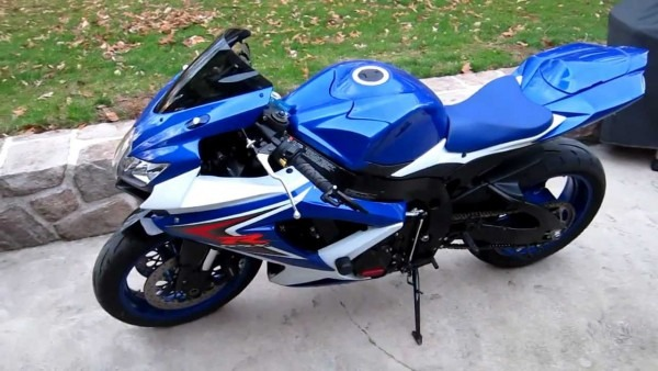 2008 Suzuki Gsxr 750 Blue & White Loaded With Woodcraft Crg
