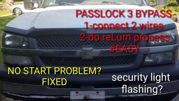 Passkey 3 Security System Bypass! No Start Issue  Chevy Gmc 1500