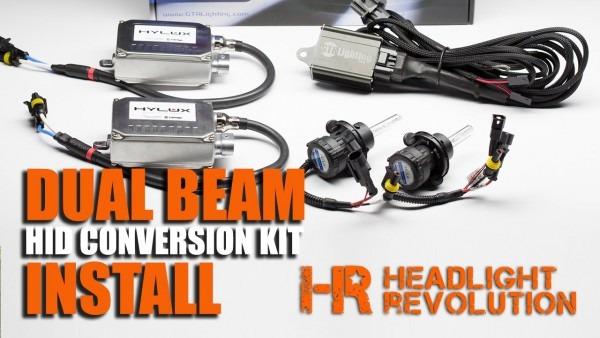How To Install A Dual Beam Hid Headlights   Bi