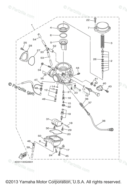 Yamaha Atv 2008 Oem Parts Diagram For Carburetor
