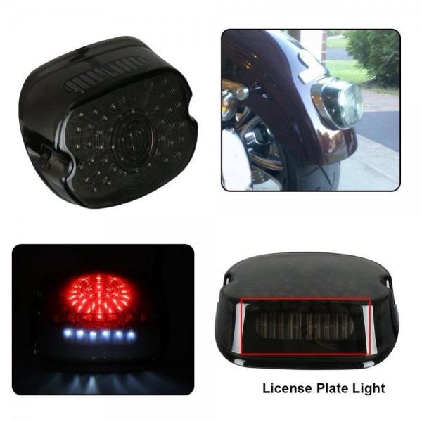 2019 Motorcycle Bar Led Brake Tail Light License Plate Lamp For