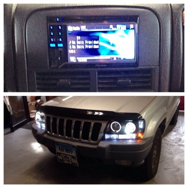 2002 Jeep Grand Cherokee With New Headlights Along With A Custom