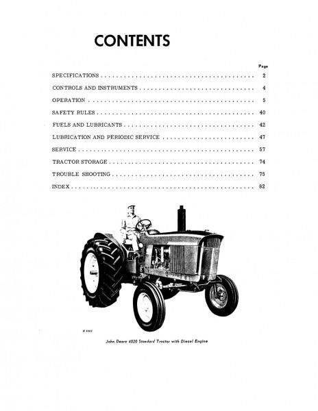 John Deere 4020 Tractor (sn 010001
