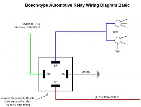 30 Amp Automotive Relay Wiring Diagram