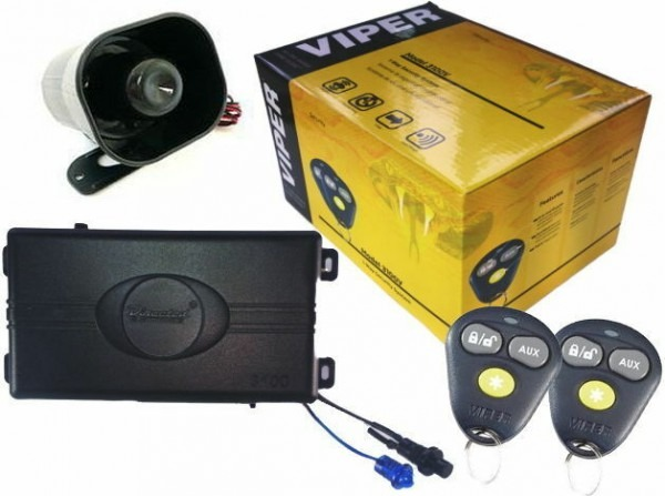 Viper 3100v One Way Car Security Alarm System W  2 Remotes Shock