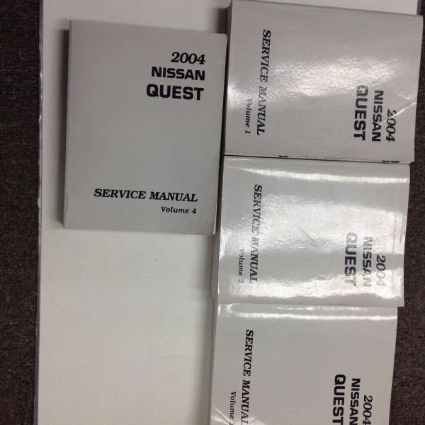 2004 Nissan Quest Van Service Shop Repair Workshop Manual Set New