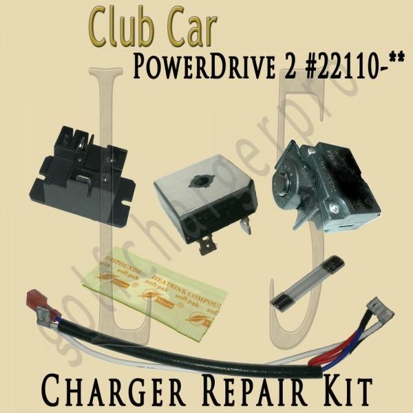 Club Car Golf Car Cart Powerdrive 2 Charger Repair Kit