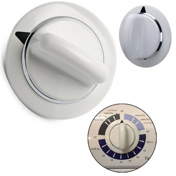 Ge Dryer Timer Knob Assembly White Fits D
